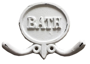 BATH Double Hook - Antique White