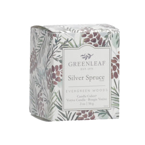 Boxed Candle Votive - Silver Spruce