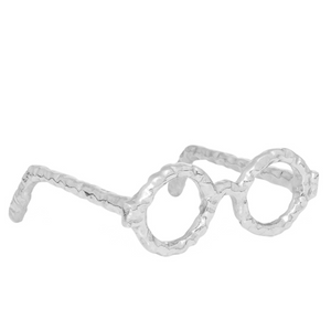 Eyeglass Decor Sculpture - Silver