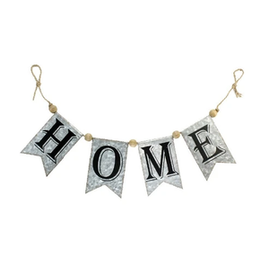 Rustic Home Banner - Metal