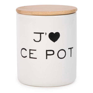 Storage jar - J'aime ce pot