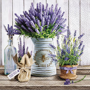 Lunch napkins - lavender vases