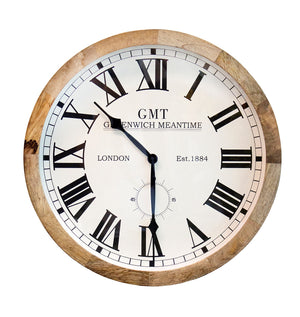 Wooden Wall Clock - Natural