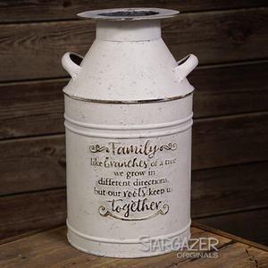 Fam Branch Milk Can - White