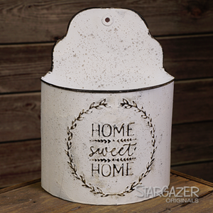Home Sweet Home Planter - White