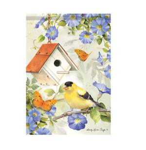 Garden Flag - Goldfinch Birdsong