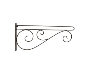 Garden Flag Scroll Bracket Arm - Black