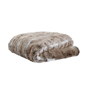 Grizzly Faux Fur Throw - Brown