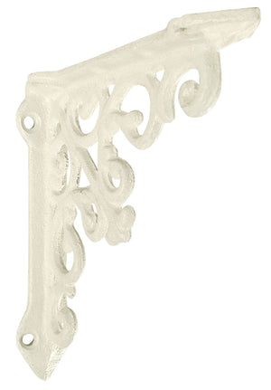 Small Victorian Shelf Bracket - Antique White