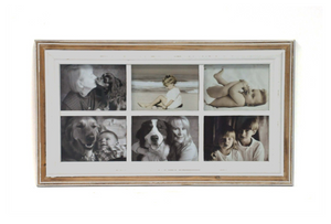 Picture Collage Frame - Distressed White