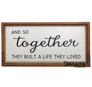 Wood and metal wall art - Together