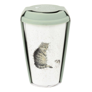 Cat Travel Mug with Silicone Lid