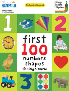 First 100 Numbers & Shapes Bingo Game