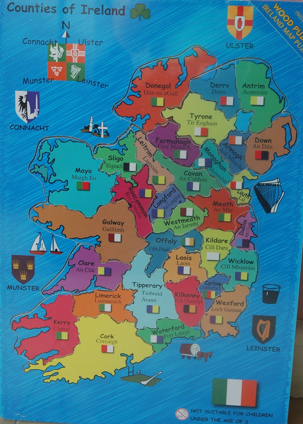 Wooden Ireland Map Puzzle