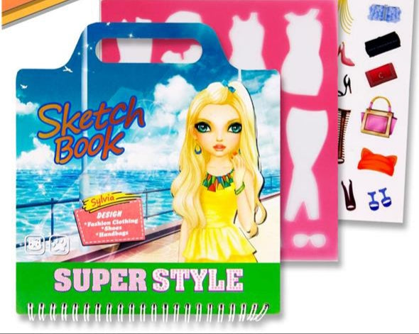 Super Style 20x23cm Colouring/sketch Book - Fashion Design