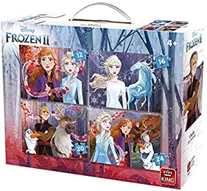 Frozen 2 - 4 puzzles in a box