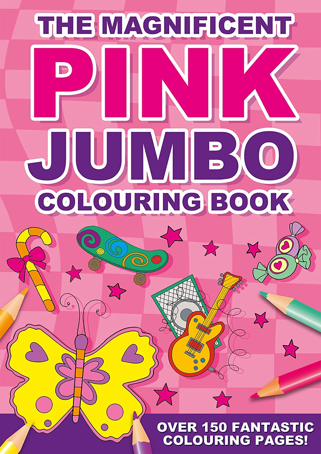 Pink Jumbo Colouring Book A4