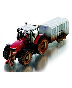 Siku Muddy Massey Ferguson with Ifor Williams Trailer 1:32 (8608)