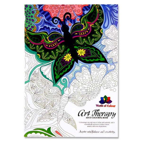 48pg Art Therapy Adult Colouring Book