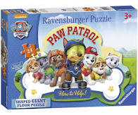 PAW PATROL 24PC SHAPED FLOOR PUZZLE RB5536