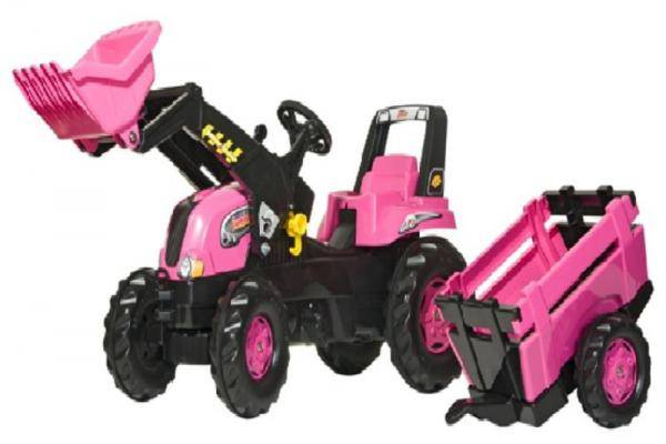Rolly Pink Junior Tractor, Trailer & Loader