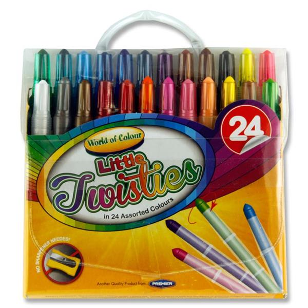24 Mini Twisties Crayons