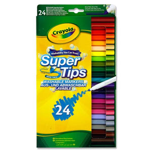 24 Supertips Washable Markers