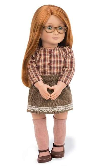 Our Generation April Doll with glasses