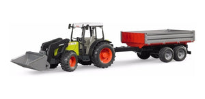 Bruder Claas Nectis 267F Tractor with Front Loader & Trailer 2112