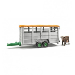 Bruder Livestock Trailer with 1 Cow 2227