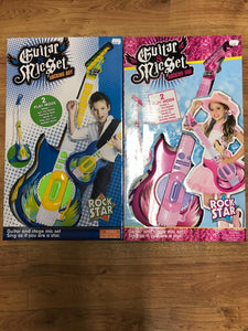 Guitar & Mic Set Blue or Pink