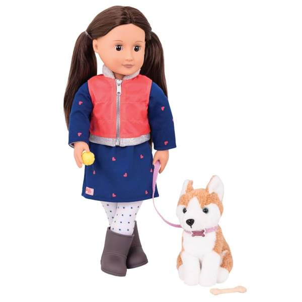 Our Generation Leslie Doll with Husky