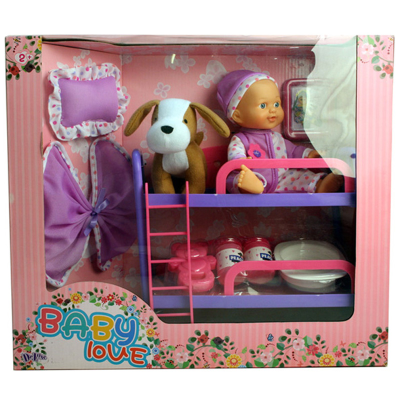 Bunk Bed with Doll, Dog & Accessories