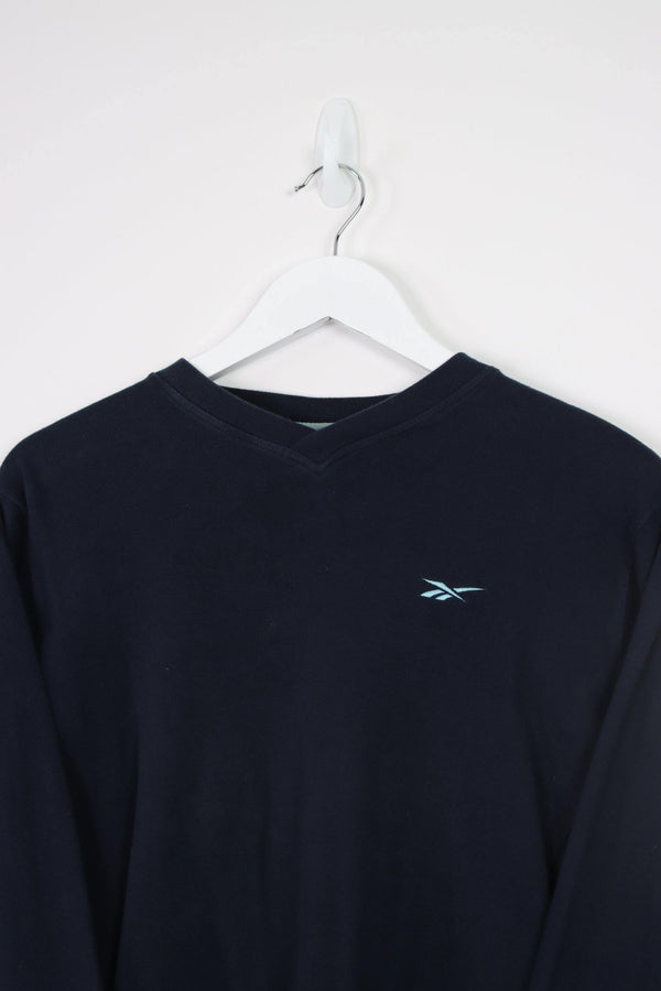 Vintage Fila 1/4 Zip Logo Sweater XL - Black