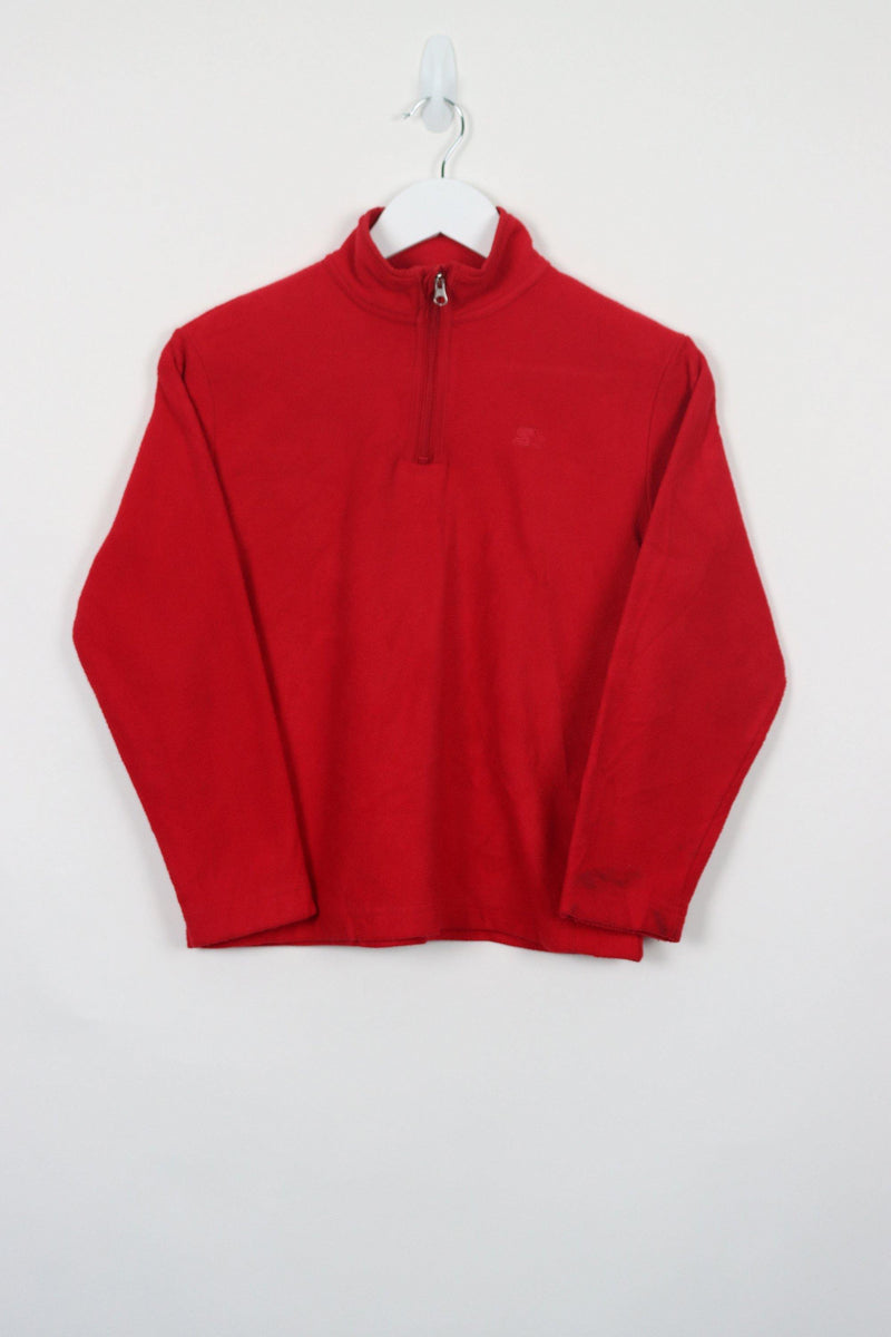 Vintage 1/4 Zip Starter Fleece Women XS - Red