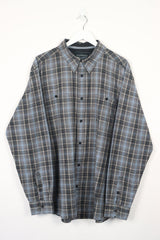 Vintage Wrangler Stripes Shirt XXL - Grey