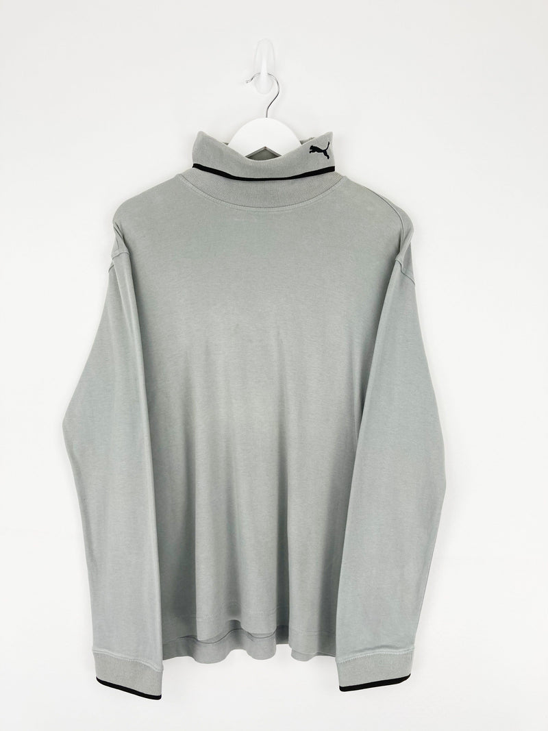 Vintage Puma Turtleneck Sweater M - Green - ENDKICKS