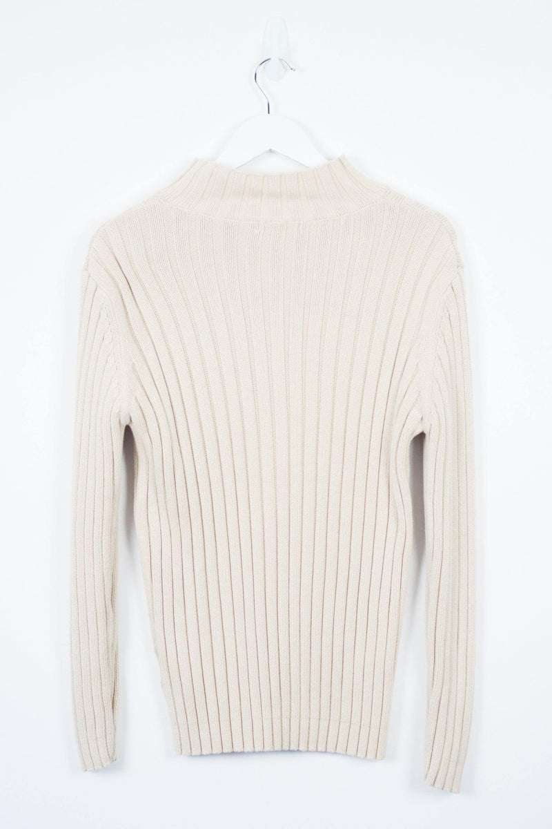 Vintage Okanagan Zip Sweater S - Beige - ENDKICKS