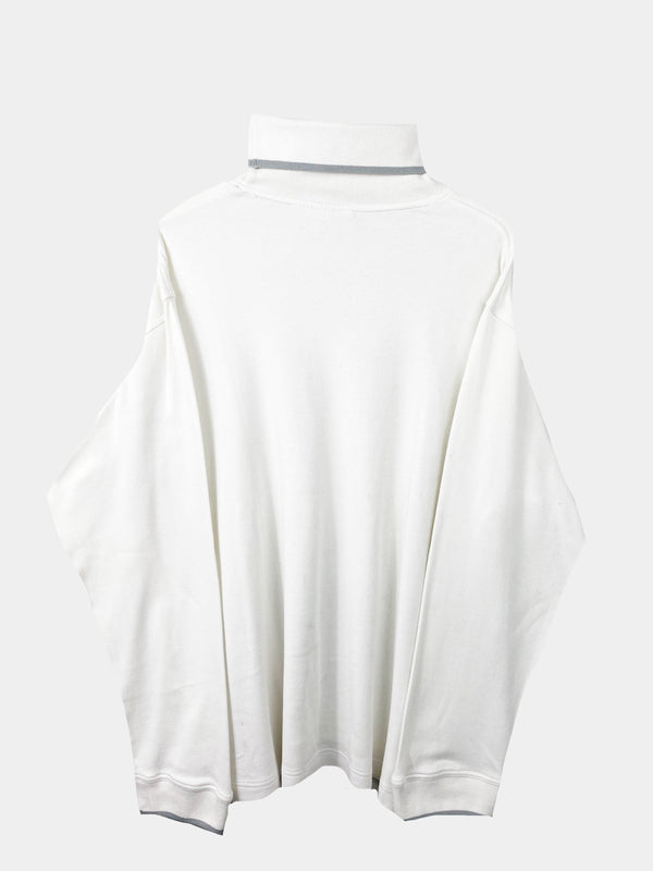Vintage Puma Turtleneck Sweater XL - White
