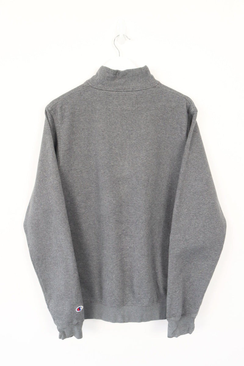 Vintage Champion Montana Zip Sweater M - Grey
