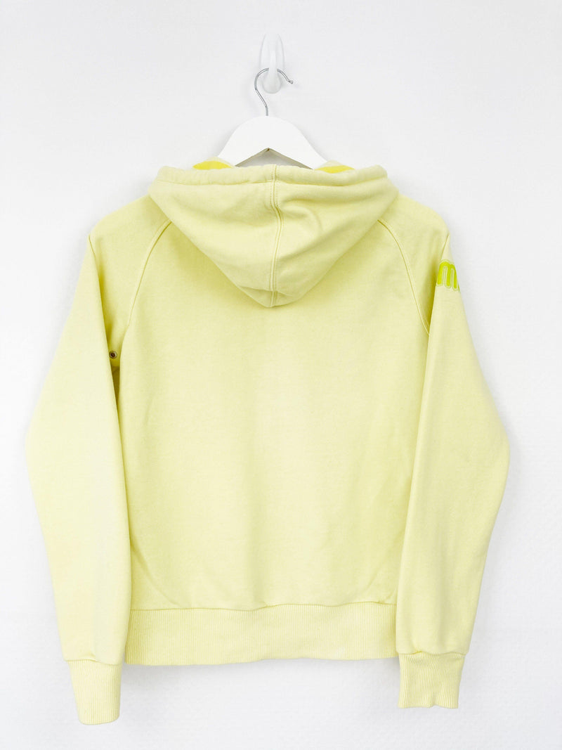 Vintage Puma Logo Hoodie Women S - Yellow - ENDKICKS
