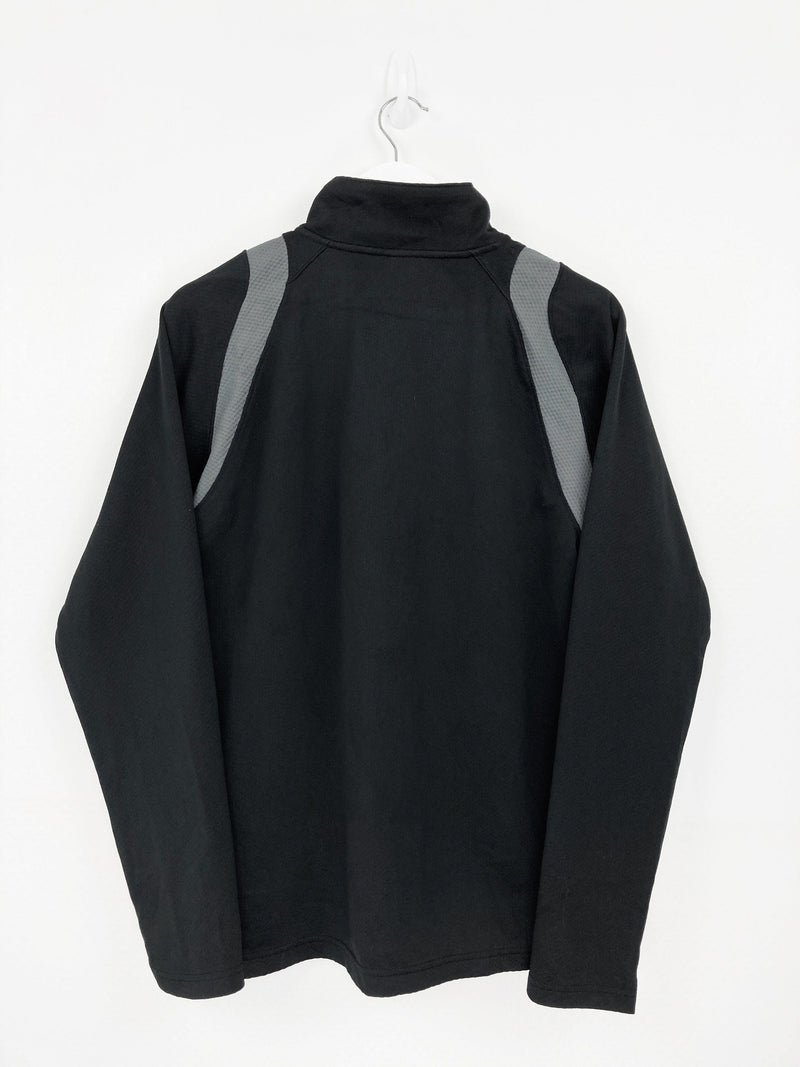 Vintage Champion Logo Zip Sweater M - Black
