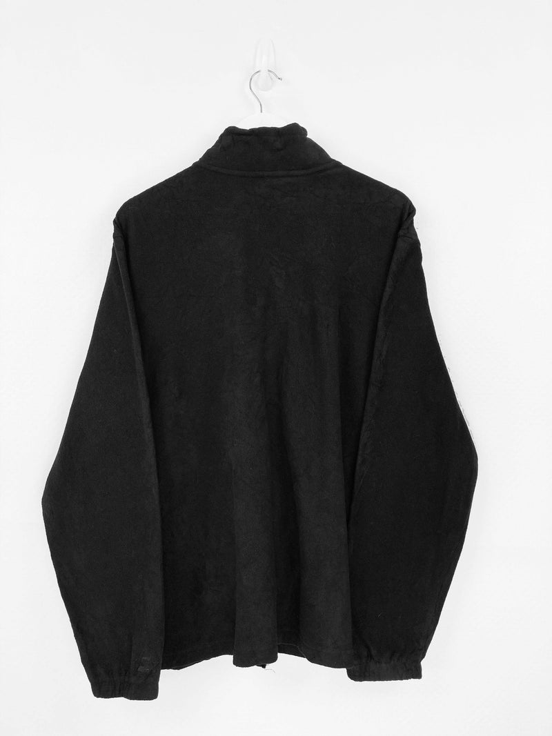 Vintage Starter Zip Fleece Sweater XL - Black