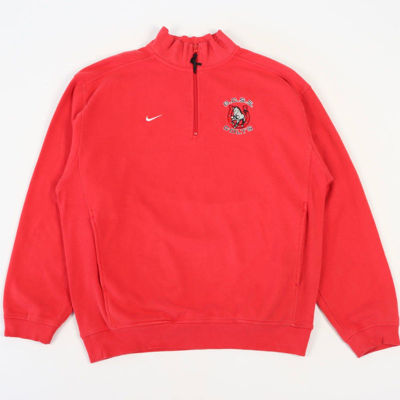 Vintage Nike Colts NFL 1/4 Zip Sweater L - Red