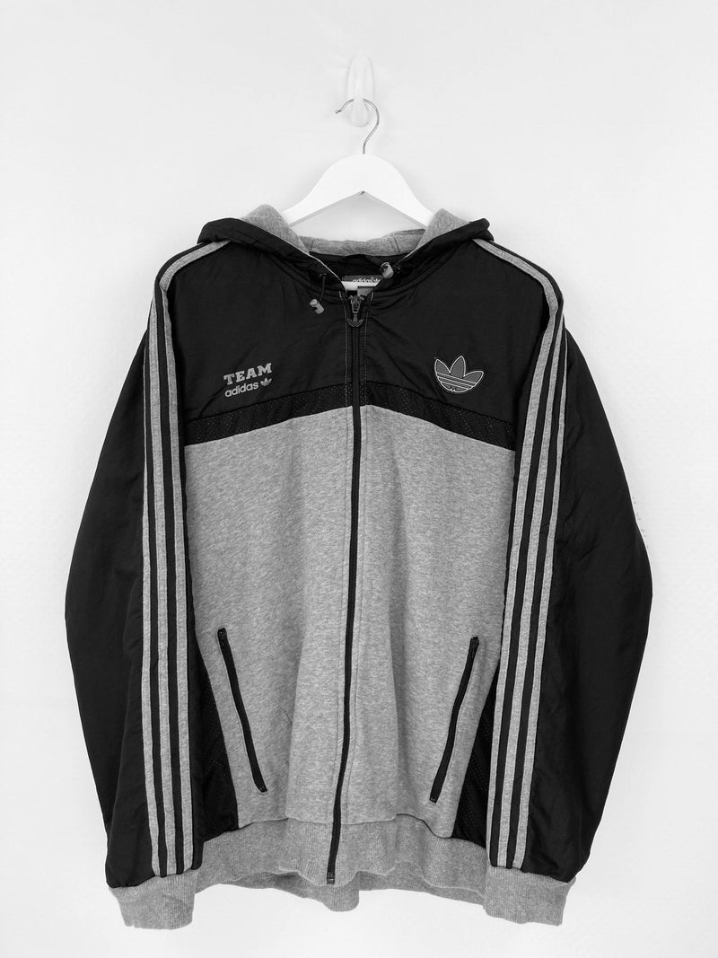Vintage Adidas Logo Track Top XL - Black