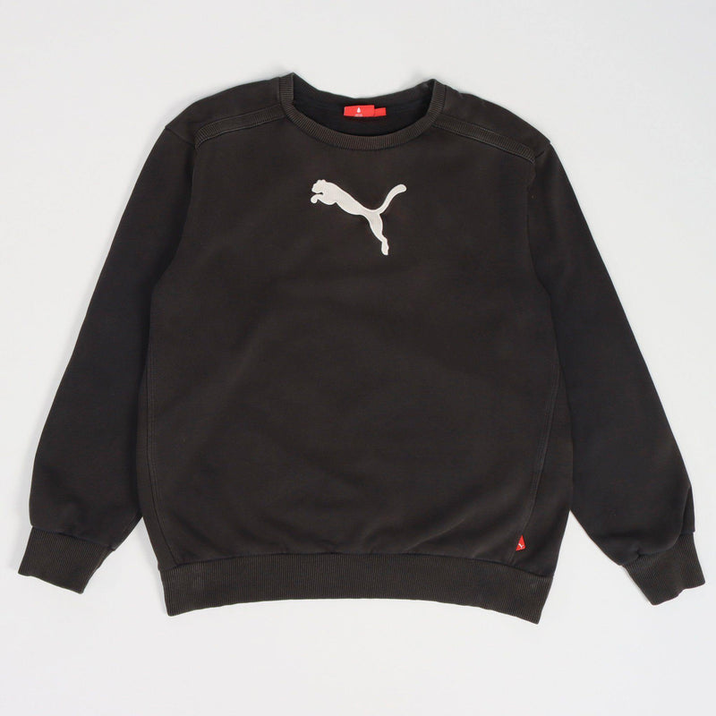 Vintage Puma Logo Sweater S - Black - ENDKICKS