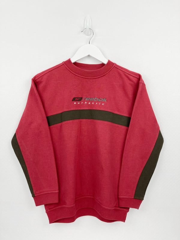 Vintage Reebok Spellout Sweater Women XS - Red