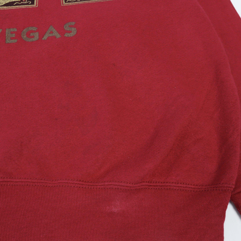 Vintage Caesars Las Vegas Sweater M - Red - ENDKICKS