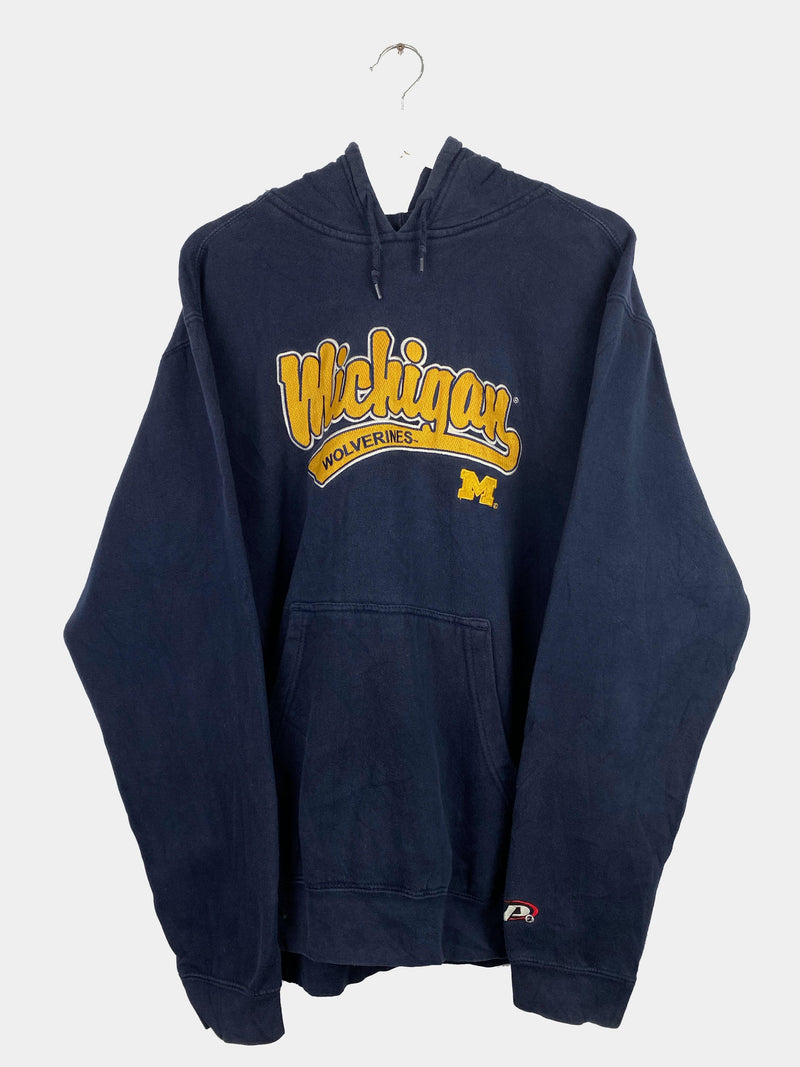 Vintage Wolverines Michigan Hoodie M - Blue