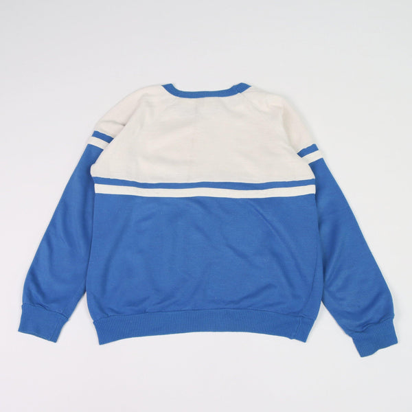 Vintage Puma Logo Sweater M - Blue - ENDKICKS